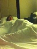 Asleep the night before my last surgery