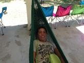 Happy on a hammock
