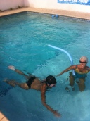 Learning how to swim again