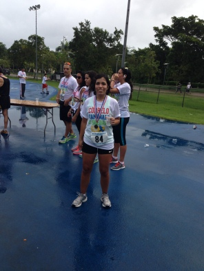 This was the second 5k I did after the TBI. I didn't have help on this one, I did it all by myself. It took me like 50 or 55 minutes; something like that.